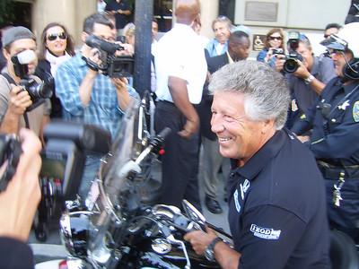 Mario Andretti, IndyCars tour San Francisco