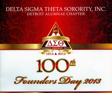 Delta Sigma Theta Sorority INC. 100th Founders Day Anniversary, January 26, 2013
