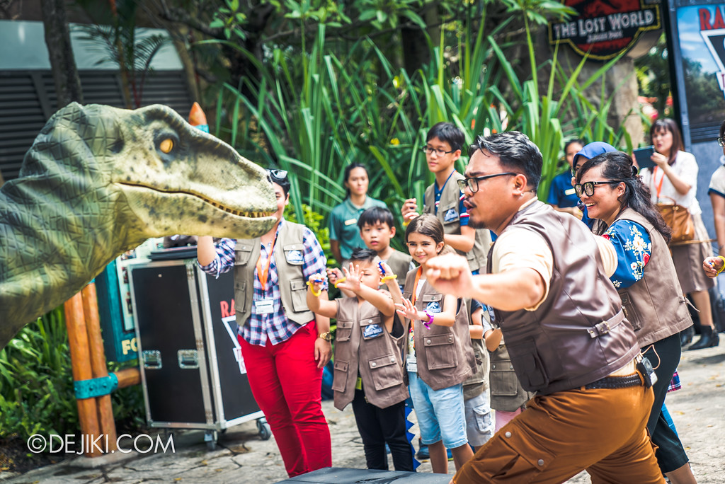 Universal Studios Singapore Park Update - Jurassic World Explore and Roar event - Jurassic World: Raptor Training School Group Raptor Finale