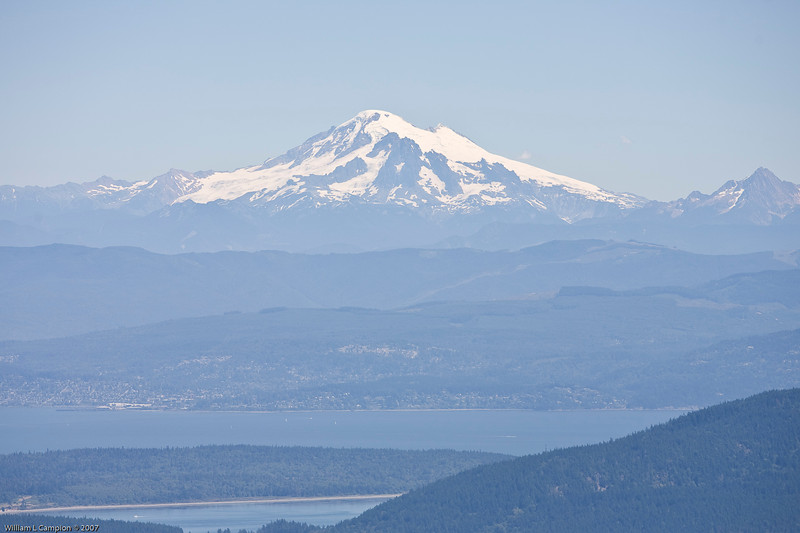 View of Mt Baker from  Morgan State park, Orcas Island