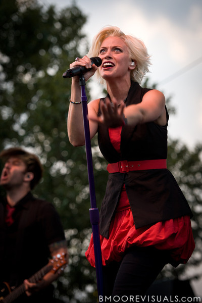 """Dawn Michele of Fireflight performs on September 11, 2010 during """"Rock The Universe"""" at Universal Studios in Orlando, Florida"""