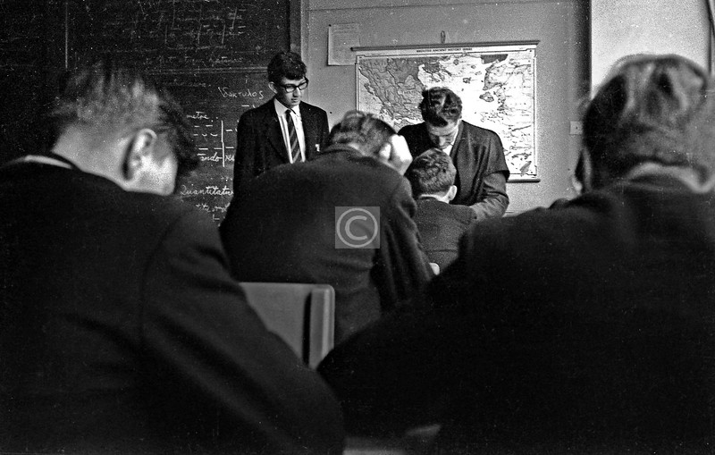 Now 3 from John McNee's Latin class.Anthony P. Brown (at the desk)