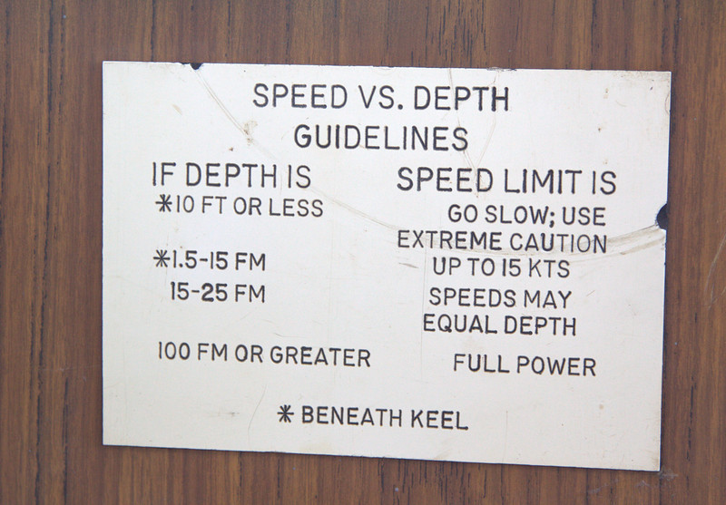 Speed vs depth guidelines
