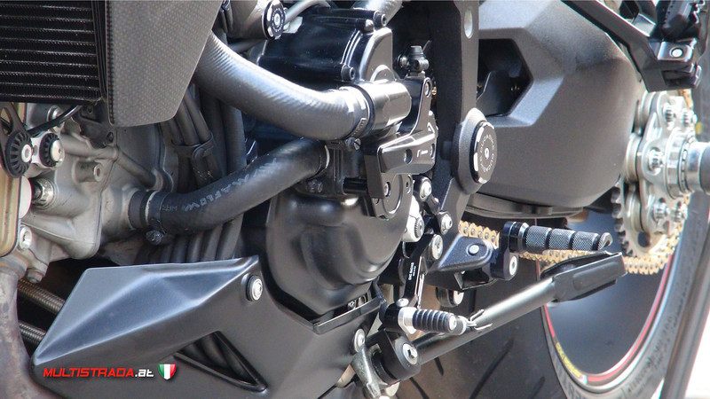 Piero's custom modified Multistrada 1200S Sport - modifications / parts list as long as your arm! More details here