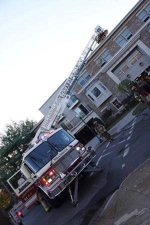 Hillsdale Fire Dep.T. Working apartment fire 55 Patterson St.