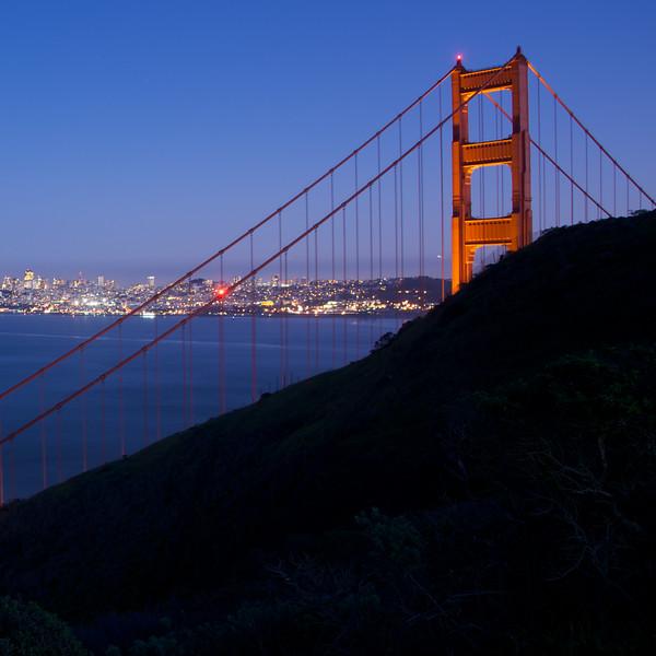 View of the city through the Bridge