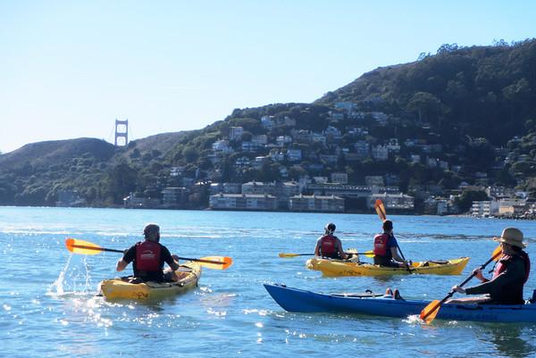 Sausalito Kayaking: Dec 29, 2013