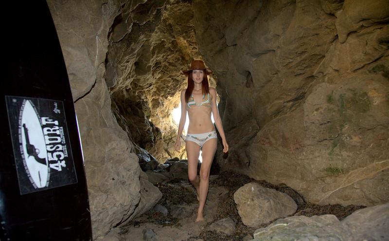 Pretty Redhead Swimsuit Bikini Model