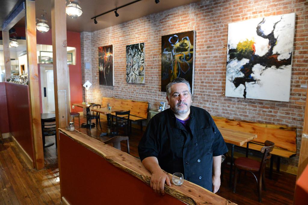 . Tania Barricklo-Daily Freeman Gabriel Vasquez in his restaurant Gabrie\'sl on Wall St in uptown Kingston.