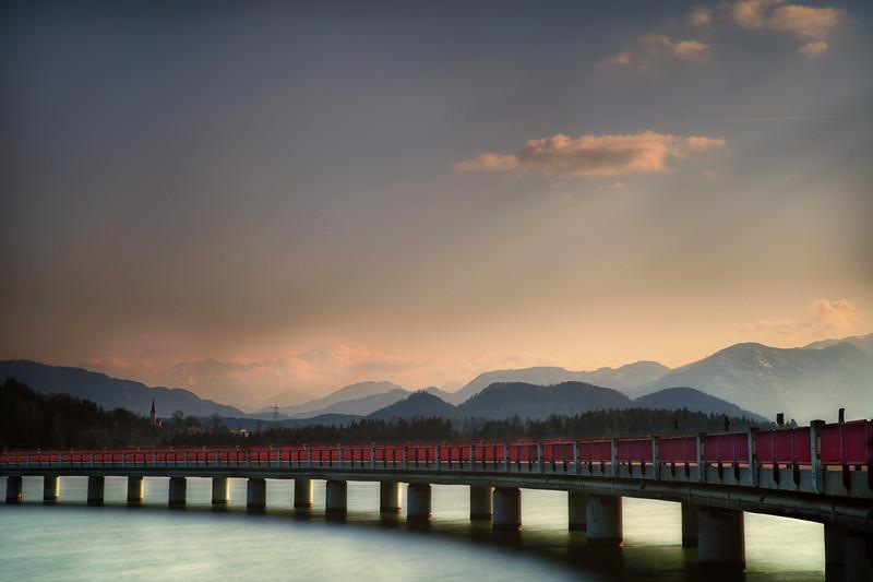 Stauseebrücke in Völkermarkt