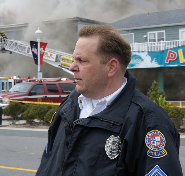 ....when I got to the fire we were standing at the edge of the boardwalk, suddenly all the windows blew out of the Dough Roller and scared the hell out of everybody.....soon Al was there to secure the scene. He's a good guy.