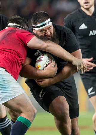 Charlie Faumuina during game 7 of the British and Irish Lions 2017 Tour of New Zealand, the first Test match between  The All Blacks and British and Irish Lions, Eden Park, Auckland, Saturday 24th June 2017 (Photo by Kevin Booth Steve Haag Sports)  Images for social media must have consent from Steve Haag