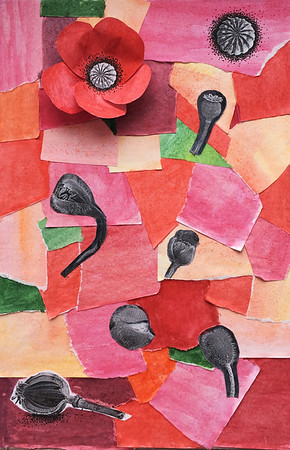 """""""Blossomed"""" (collage) by Olga Andronova"""