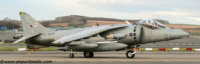 ZG506 BAe Harrier GR9A RAF @ Prestwick Airport (EGPK)
