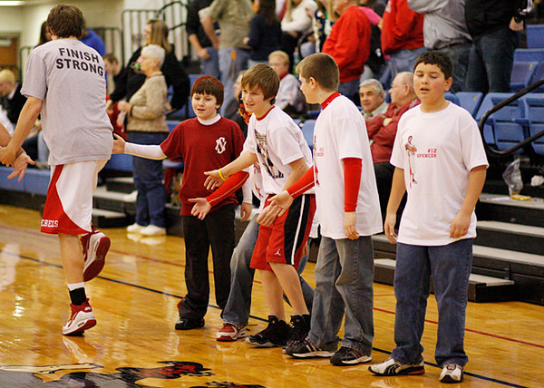 SNHS Boys Basketball vs NW - Sectional 2010