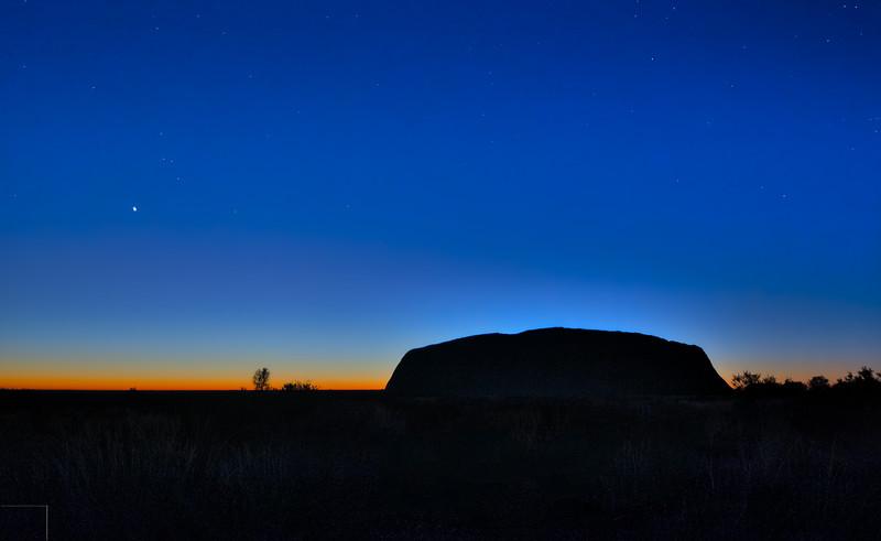 Pre-dawn Uluru
