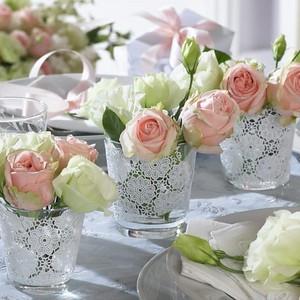 28202 Flower decoration centerpiece Bronze