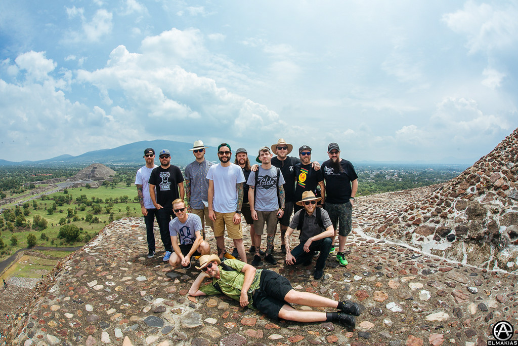 A Day To Remember Band and Crew on the Teotihuacan Pyramids by Adam Elmakias