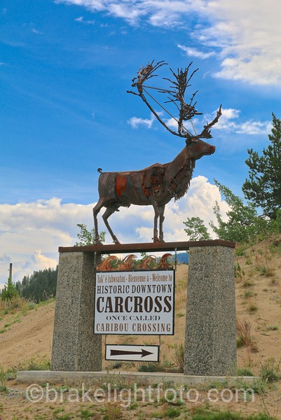 Carcross Welcome Sign