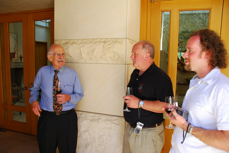 Ted and John with our tour guide at Opus One.