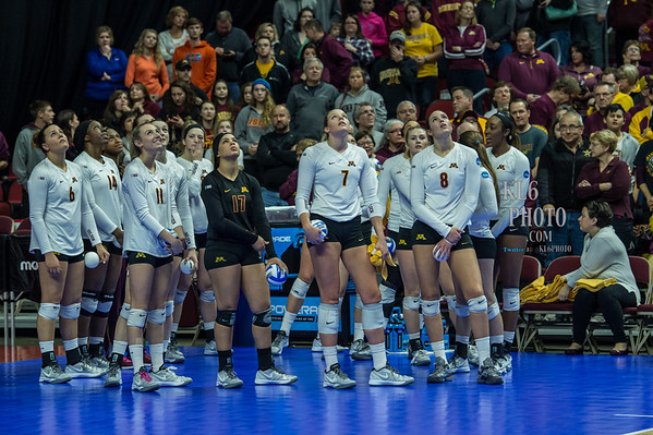 University of Minnesota Volleyball NCAA, Des Moines 12/12/15