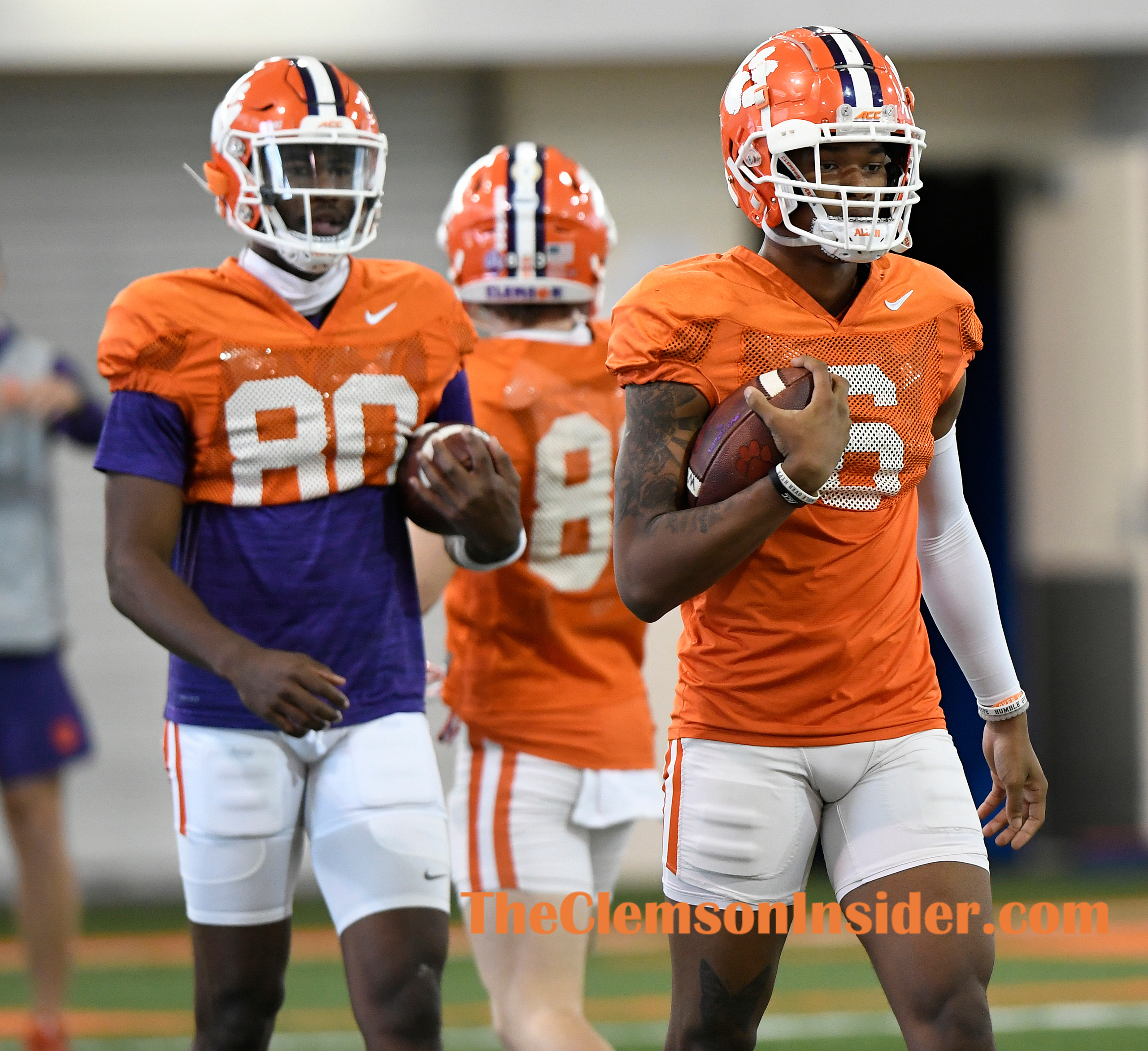 Clemson wide receiver EJ Williams (6) during the Tiger's spring practice Monday, March 22, 2021. Bart Boatwright/The Clemson Insider