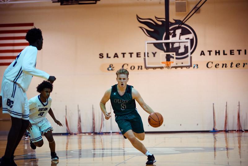 Holy Family Boys Varsity Basketball vs. Brooklyn Center, 12/5/19: Nick Hendler '20 (5)