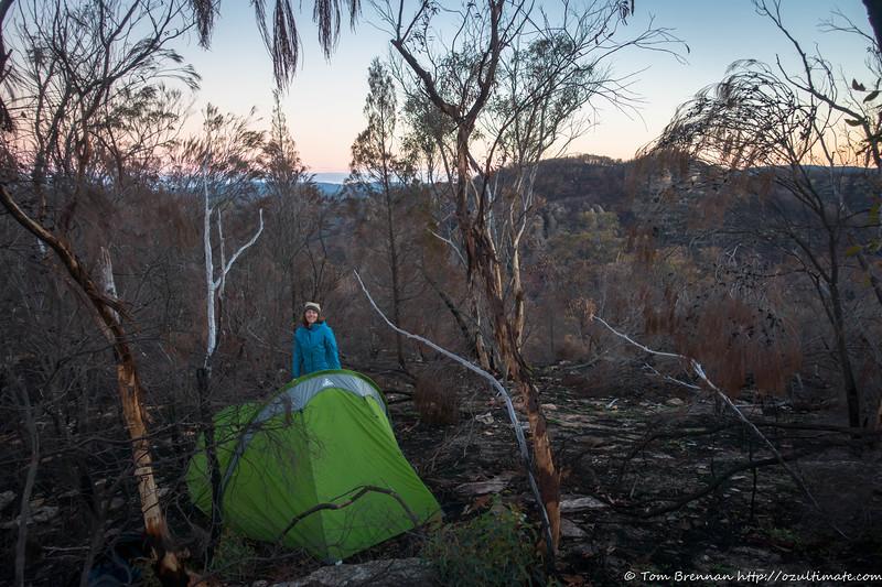 Ridgetop campsite