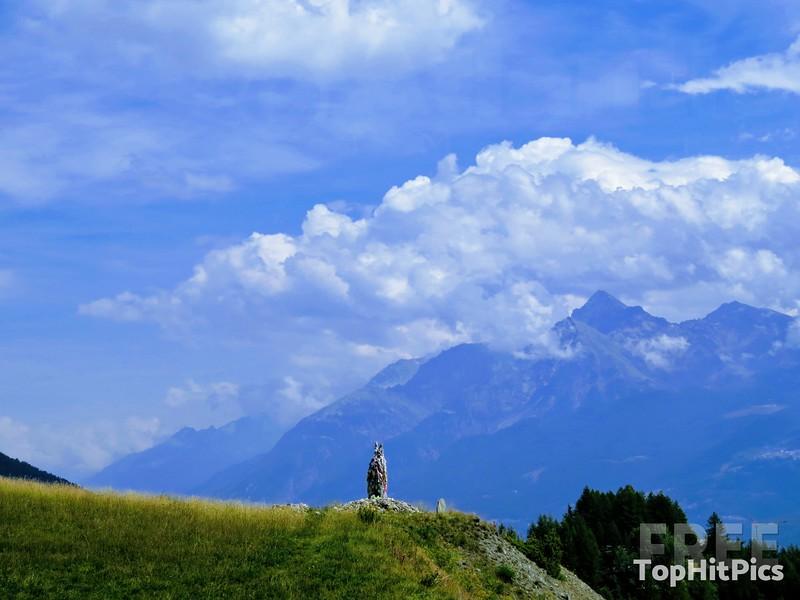 "The ""Museo A Cielo Aperto Rifugio"" in Vetan, Aosta Valley, Italy"