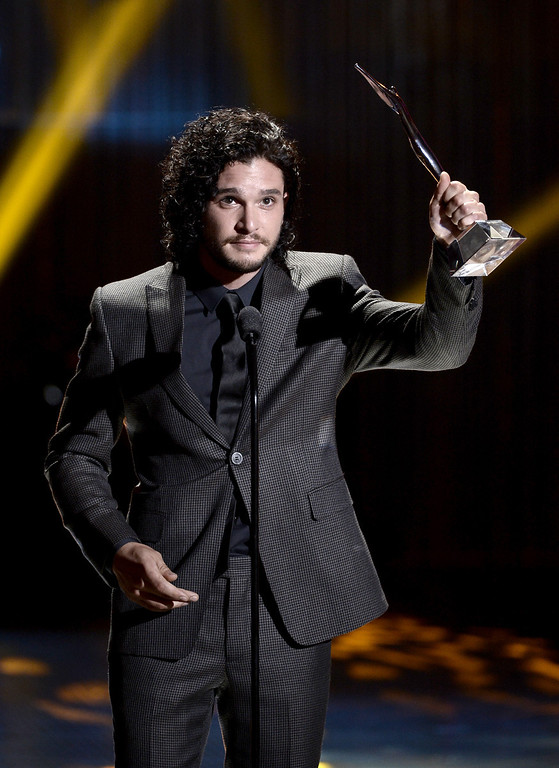 . Actor Kit Harington receives the Actor of the Year Award  onstage during CW Network\'s 2013 Young Hollywood Awards presented by Crest 3D White and SodaStream held at The Broad Stage on August 1, 2013 in Santa Monica, California.  (Photo by Kevin Winter/Getty Images for PMC)