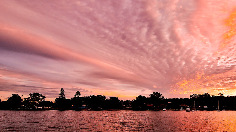 Pink cloud Sunrise Seascape Australia