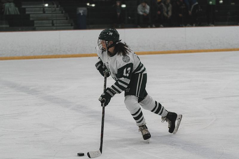 Holy Family Varsity Girls Hockey vs. Waconia, 1/9/20: Logan Paulsen '23 (13)