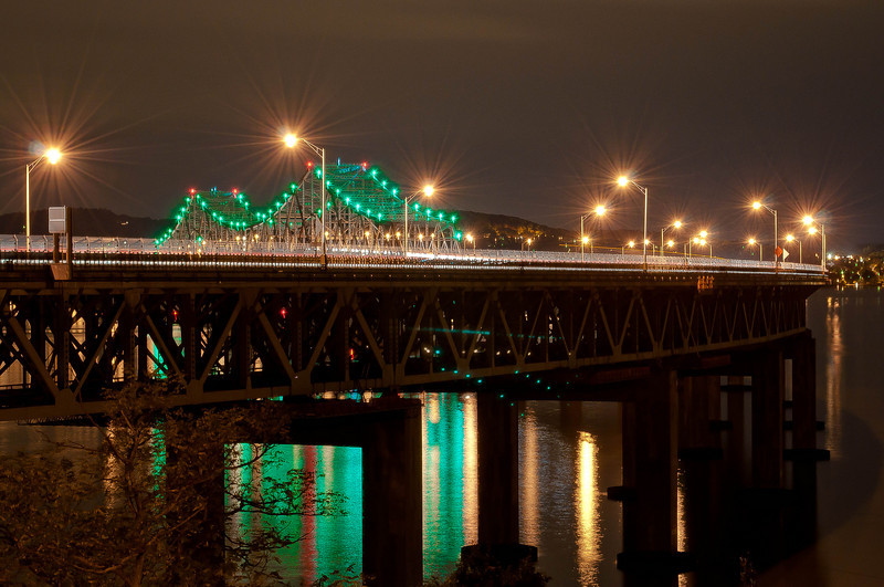 Tarrytown, NY.  Hanging over the Hudson River.  Beautiful Bridge.  Beautiful river.  Hudson Valley Greatness