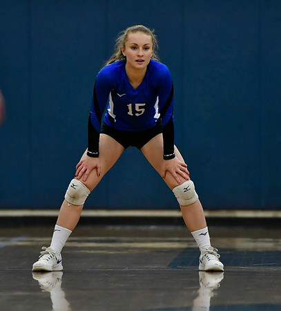11/8/2018 Mike Orazzi | Staff Bristol Eastern's Rebecca Bender (15) during the Class L Second Round State Girls Volleyball Tournament in Bristol Thursday night.