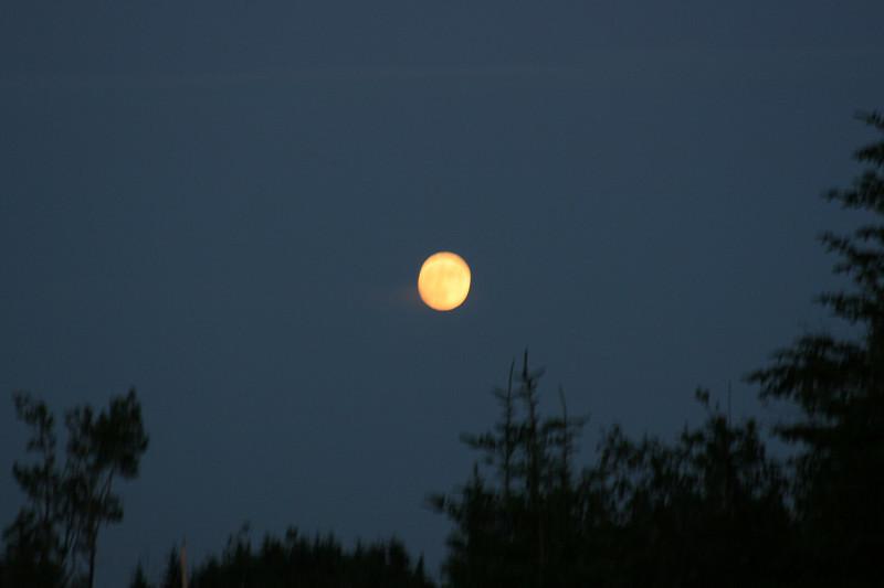 June moon, no tripod.