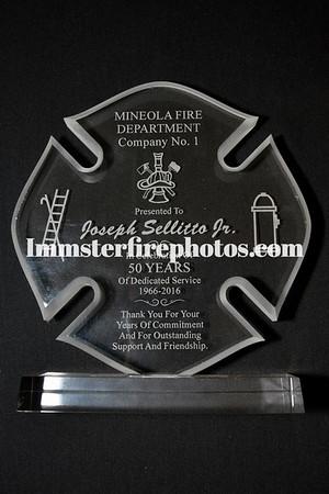 MINEOLA FD JOSEPH SELLITTO Jr. 50 YEARS OF SERVICE