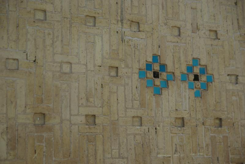 Popularny element dekoracyjny - tu przy grobowcu Hafeza