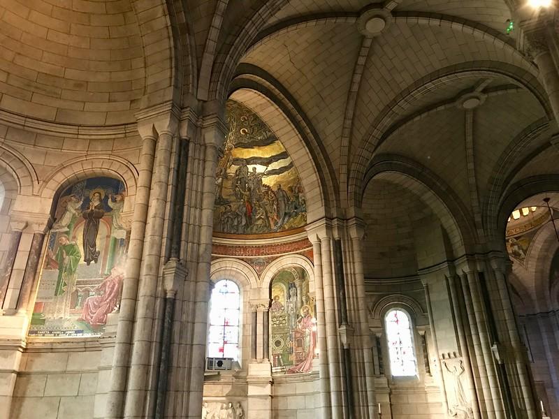 Interior of Sacre Coeur Basilica