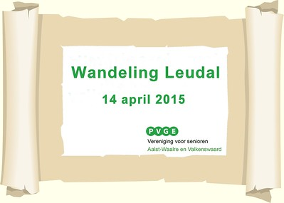 2015-0414 PVGE wandeling door Leudal