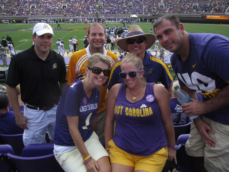 9/1 ECU vs App State Marshal, Jon, JG, Tom, Jen, Anne-Stewart