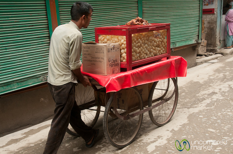 Puri Vendor on the Streets of Sringar, Kashmir, India