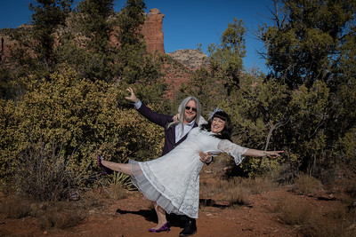 Lori & Ron's Sedona wedding