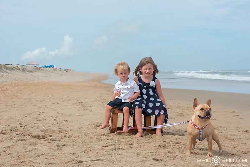 French Bull Dog, Family Portraits, Family Dog, Cape Hatteras National Seashore, Avon, North Carolina, Epic Shutter Photography, Outer Banks Photographer, Hatteras Island Photographer, OBX Family Vacation, Frenchie
