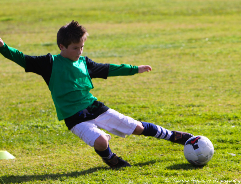 December 20, 2009  My nephew playing All Star soccer. They were having a scrimage game.