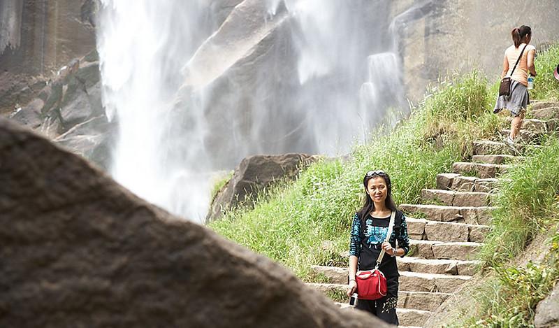 Near the base of Vernal Falls.