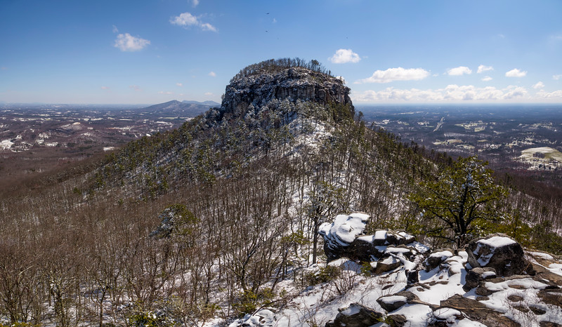 Snowy Pilot Mountain Panorama