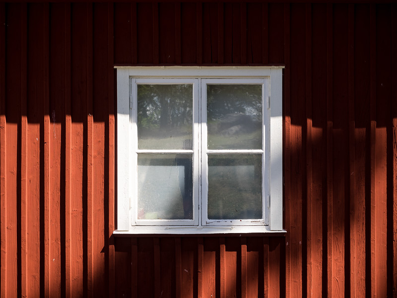 Red and White Window