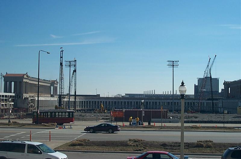 Soldier Field under construction