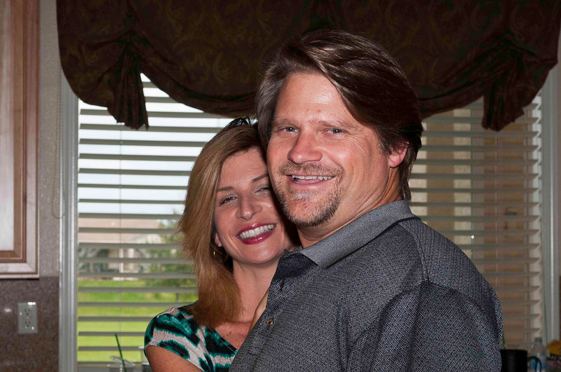 Norm Jr. and his fiance Desiree.