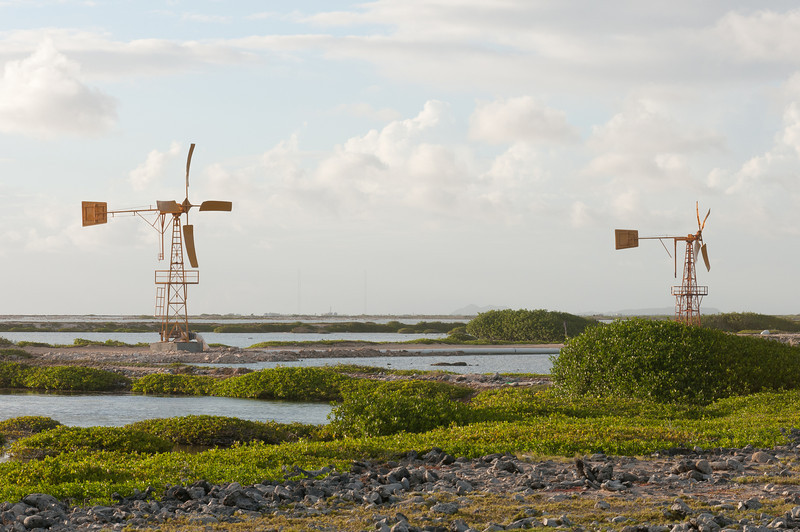 Windmills on the island of Bonaire